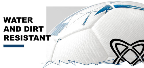 Thermally bonded constructed soccerballs ensures long lasting wear and tear against water and dirt