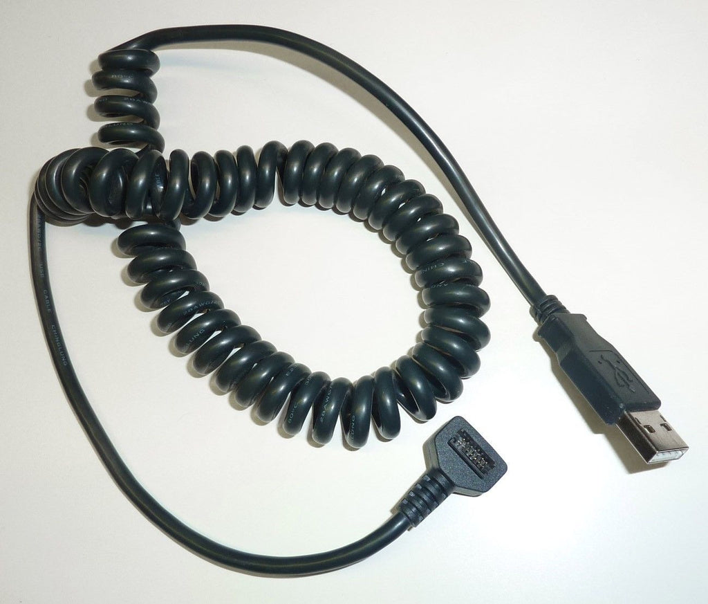 Cable, VX810 14 pin Header/USB A Type Curly .15M (CBL-08398-02)