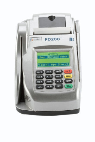 First Data FD 200Ti Terminal and Check Reader (001688064)