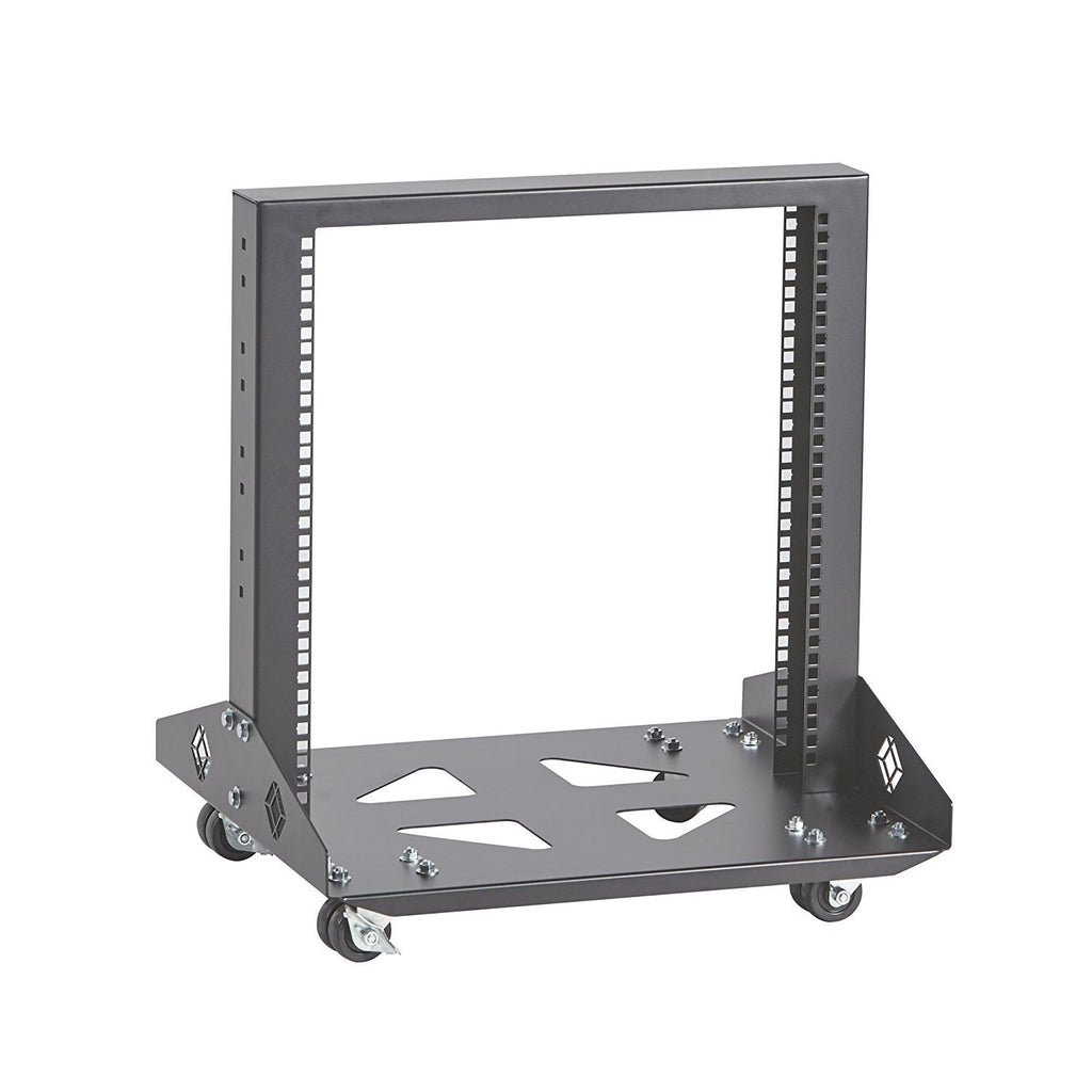 "Black Box 11U 2-Post Rack 22.47"" x 19.86""D M6 Square Holes 1000lb. Capacity"