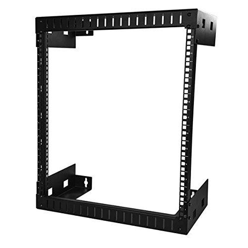 StarTech.com Wall Mount Server Rack - 12U Rack - 12in Deep - Open Frame - Network Rack - Wall Mount Rack - Equipment Rack - 2 Post Rack
