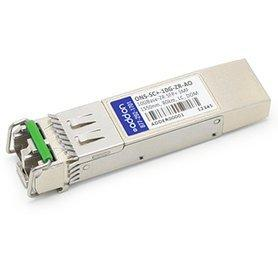 AddOn - SFP+ transceiver module - 10 Gigabit Ethernet - 10GBase-ZR - LC single-mode - up to 49.7 miles - 1550 nm (ONS-SC