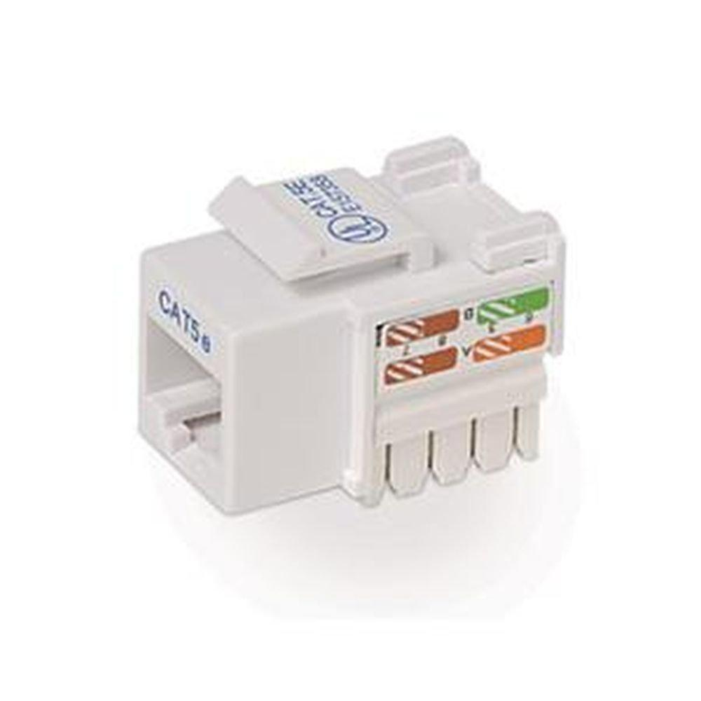 CAT5E White Keystone Jack 568A/568B