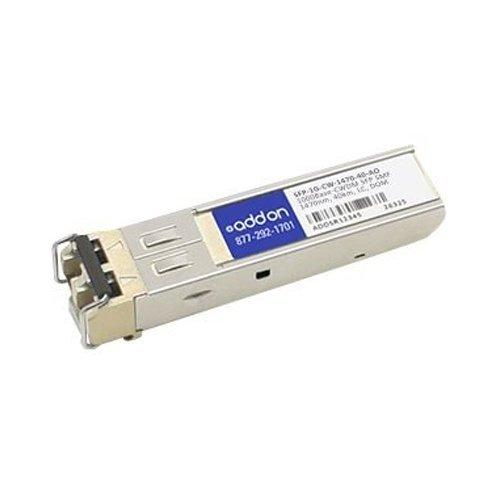 AddOn Arista Networks Compatible TAA Compliant 1000Base-CWDM SFP Transceiver (SMF, 1470nm, 40km, LC, DOM)