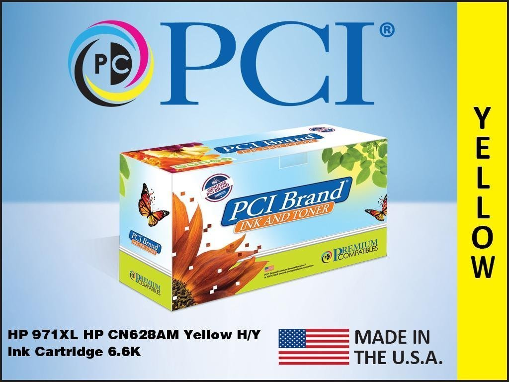 Premium Compatibles HP971XLYL-PCI PCI HP 971XL CN628AM Yellow InkJet Cartridge