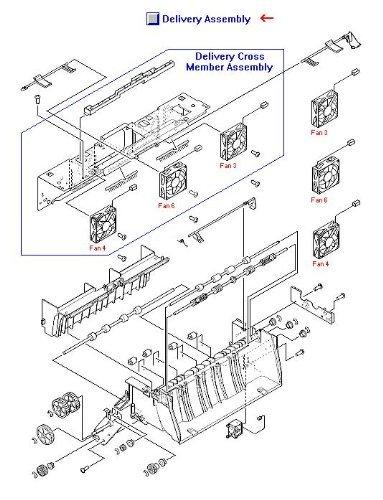 Hp Laserjet 9000 Rg5-5643-080cn Delivery Assembly