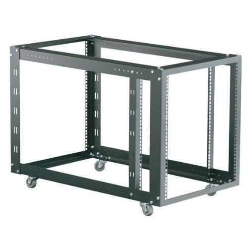 "Black Box 12U 4-Post Flex Rack 21"" x 36""D M6 Square Holes 360lb. Capacity"