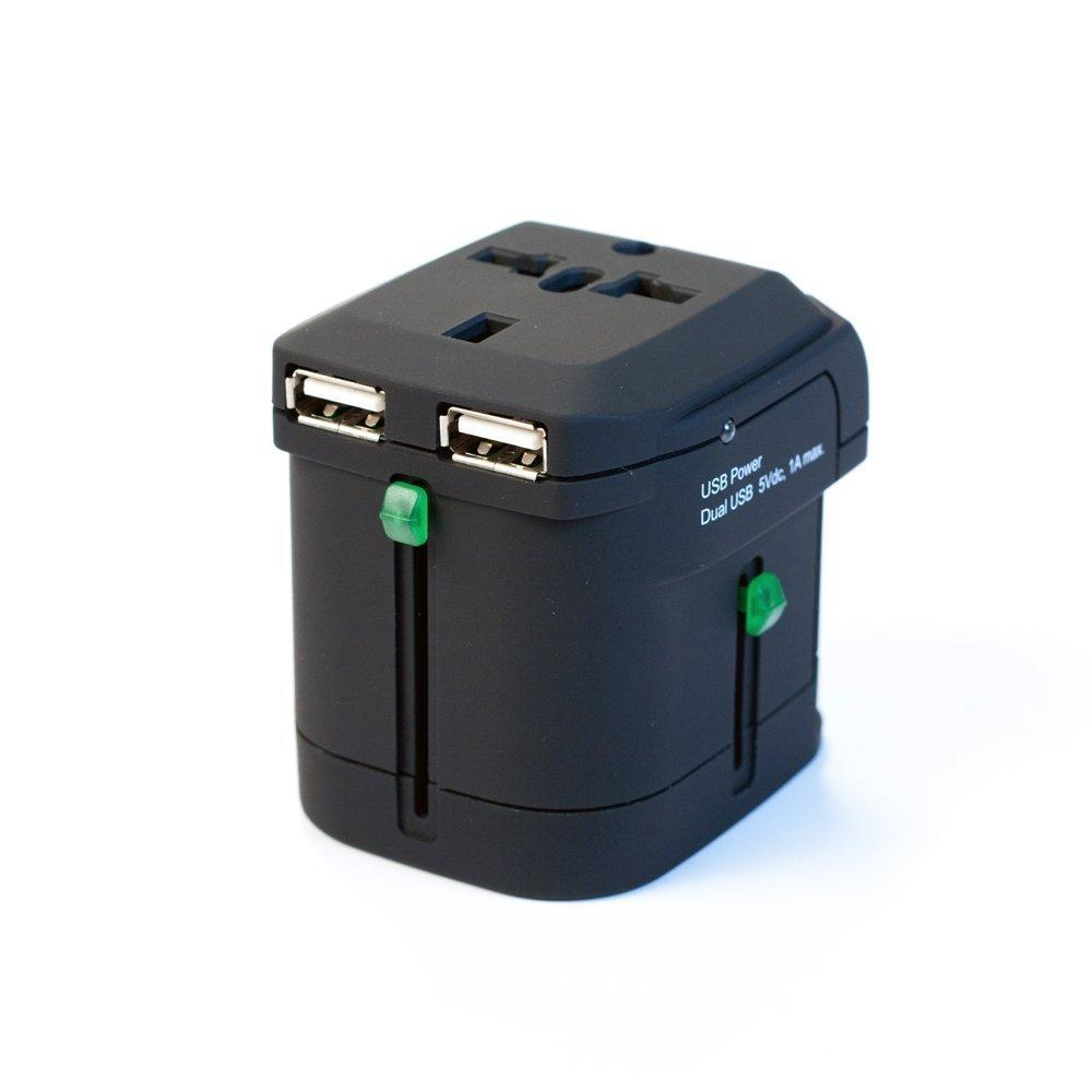 I/O Magic I016W01RU2B World Travel Power Adapter w/Carrying Case (Black)