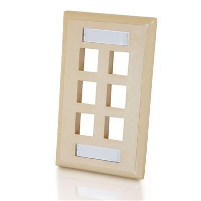 6 Socket Keystone Network/Multimedia Faceplate