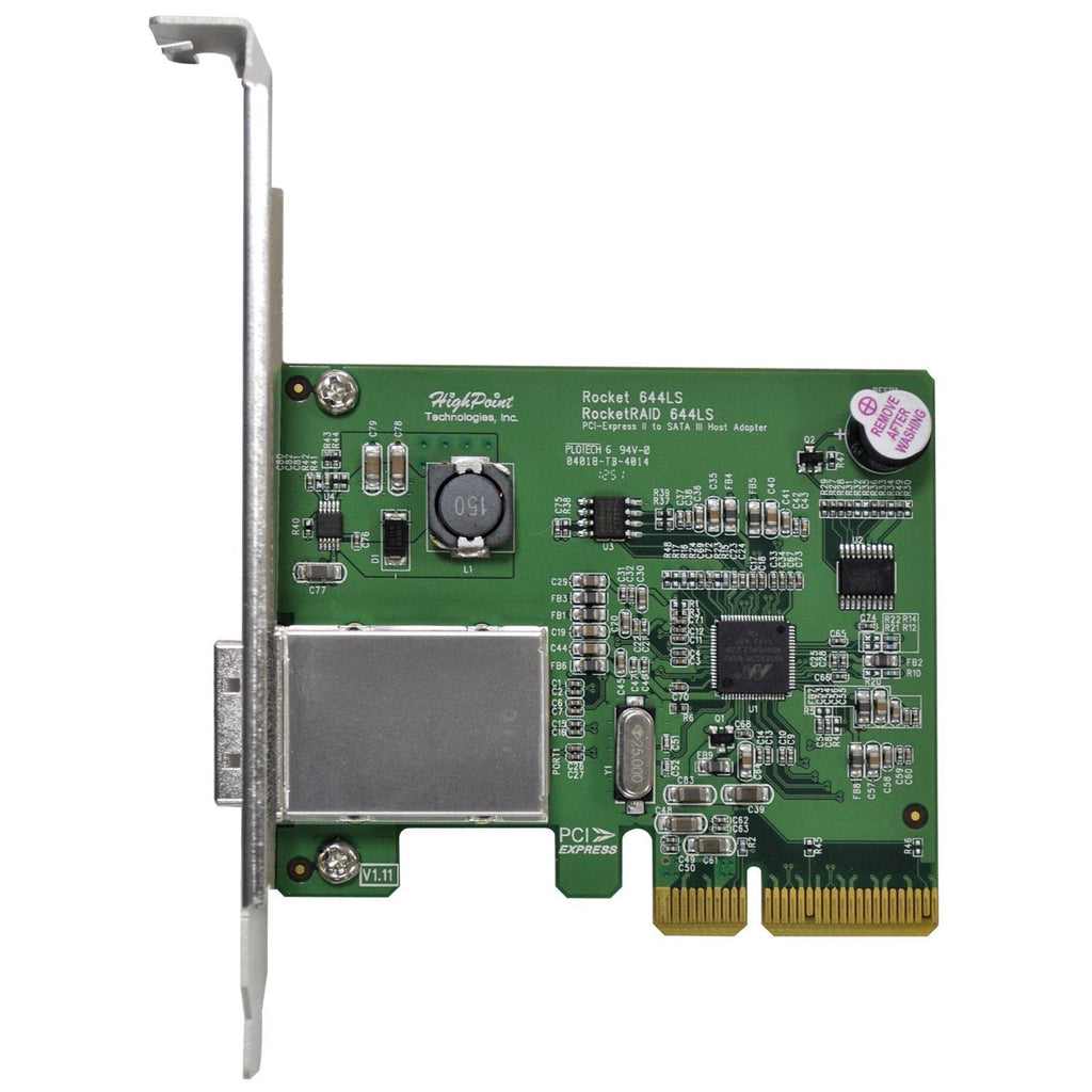 HighPoint RocketRAID 644LS 4-Channel SATA 6Gb/s PCI-Express 2.0 x4 RAID HBA (Mini-SAS Connector)