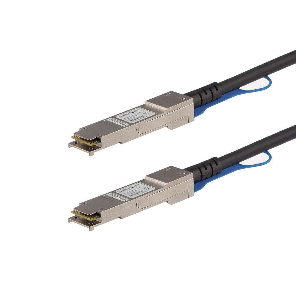 StarTech.com QSFP40GPC05M QSFP+ Direct Attach Cable, 1.6'/0.5m, 40Gbe Cable, MSA Compliant, Passive Twinax Cable, DAC Cable, QSFP+ Cable