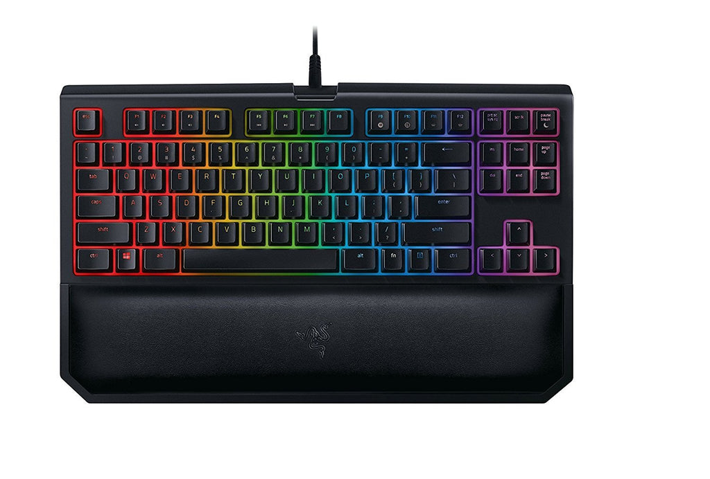 Razer BlackWidow Tournament Edition Chroma V2 - RGB Ergonomic Mechanical Gaming Keyboard - Tactile & Clicky Green Switches