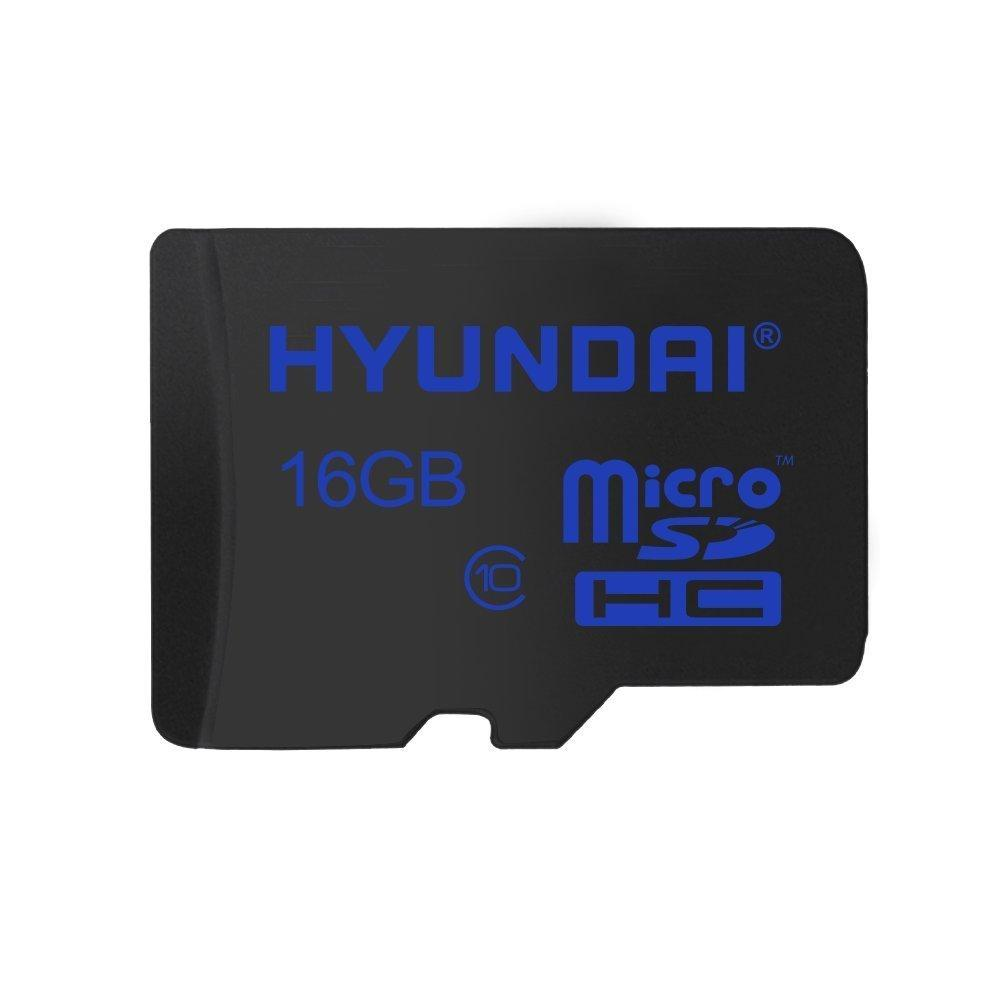 Hyundai 16GB Flash Class 10 Micro SD memory with Adapter - 25MB/S Read Speed and 12MB/S Write Speed Components SDC16GC10