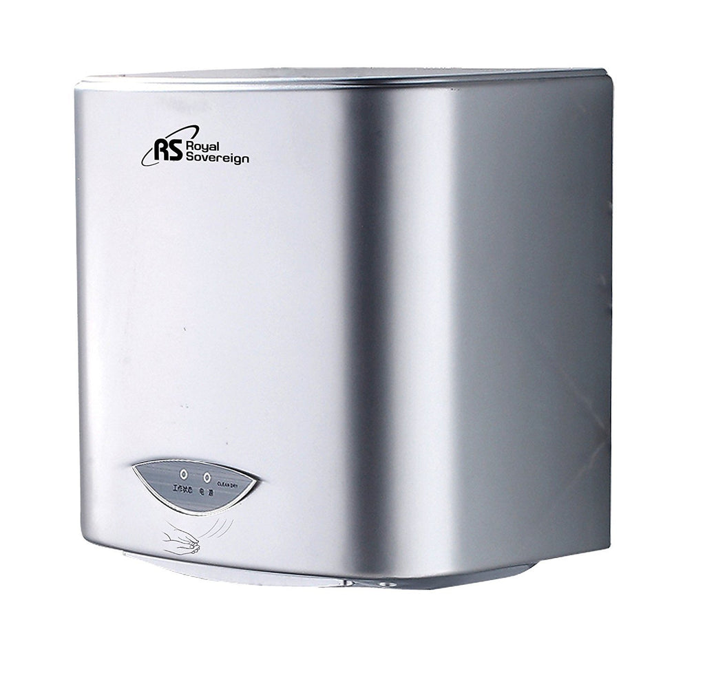 Royal Sovereign Touchless Automatic Hand Dryer, Durable 20 second Hand Dry Time,  1200 Watt, Silver (RTHD-421S)