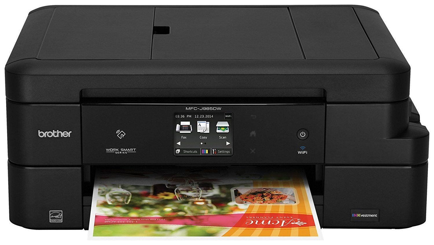 Brother MFC-J985DW Inkjet All-in-One Color Printer, Duplex Printing,  Wireless Connectivity, Amazon Dash Replenishment Enabled, Cost-Effective  Color