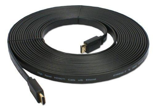 QVS 8 Meter Flat High Speed HDMI with Ethernet (HDF-8M)