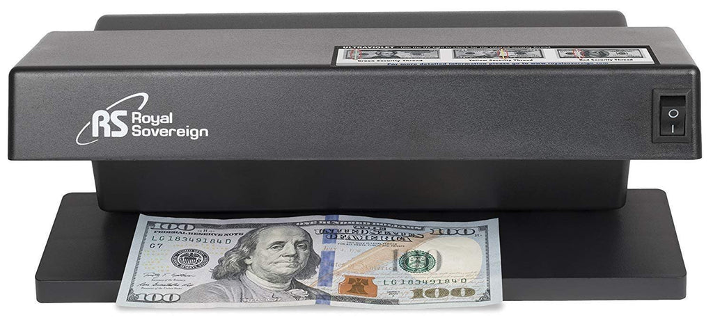 Royal Sovereign Countertop Counterfeit Detector / ID Checker Machine, Ultraviolet Counterfeit Detection, Black (RCD-1000)
