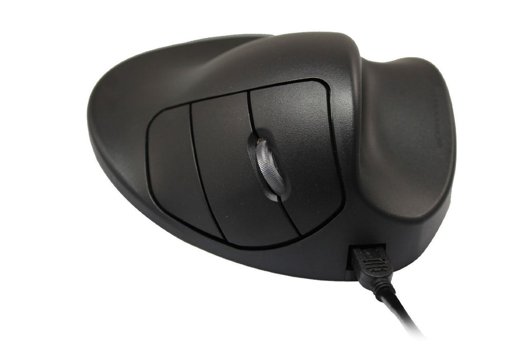 Hippus Wireless Light Click HandShoe Mouse (Right Hand, Small, Black)