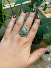 Load image into Gallery viewer, Stone Sun Compass Ring #2