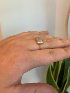 Simple Moonstone 14k Gold Ring