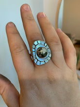 Load image into Gallery viewer, Stone Sun Compass Ring #1