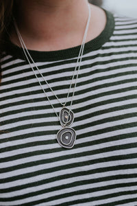Topo necklace with sterling silver dot