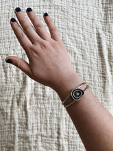 Load image into Gallery viewer, Topo Cuff with sterling silver dot