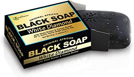 AFRICAN BLACK SOAP [WHITE DIAMOND] (5OZ)