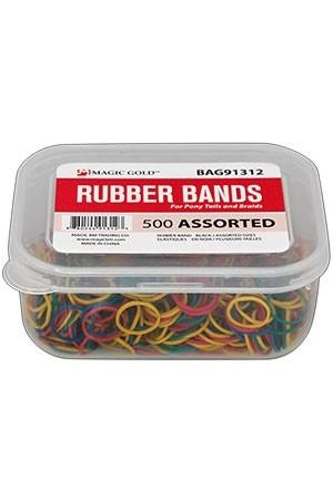 [MAGIC GOLD-#1312] RUBBER BAND #ASSRT (500/JAR)-PC