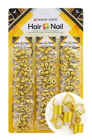 [#CX7208 ] GOLD HAIR & NAIL RING BEAD