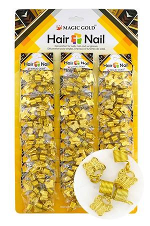[#CX7209 ] GOLD HAIR & NAIL RING BEAD