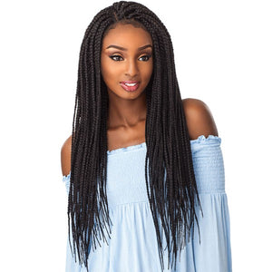 SENSATIONNEL CLOUD9 4X4 PART SWISS LACE WIG BOX BRAID LARGE