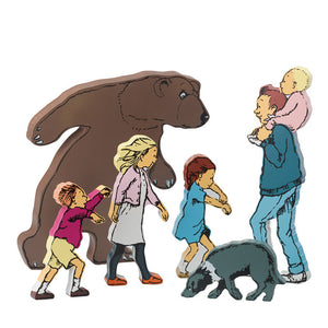 We're Going on a Bear Hunt Wooden Character Set