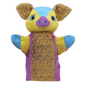 Colourful Pig Hand Puppet
