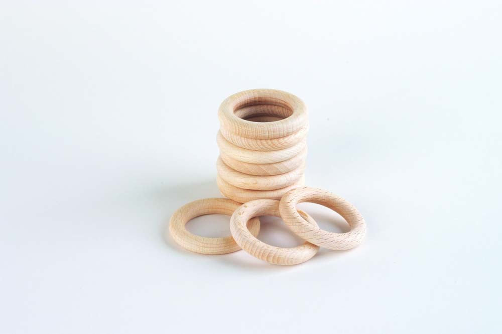 Small Natural Beechwood Ring (48mm dia.)