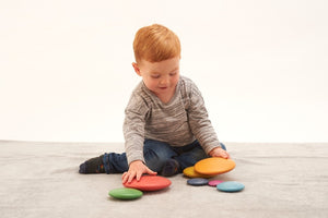 Rainbow Wooden Stacking Buttons