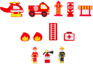 Wooden Fire Brigade Play Set