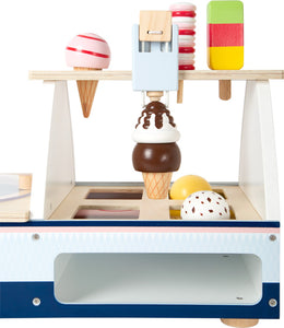 Wooden Ice Cream Counter with Accessories