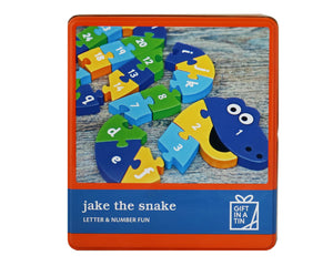Jake the Snake Wooden Alphabet & Number Puzzle