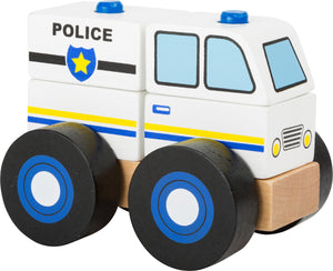 Buildable Wooden Police Car