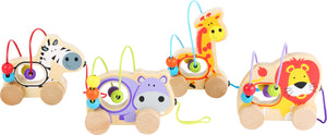 Wooden Pull-along Bead Maze Animals