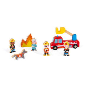 Wooden Firefighter Set