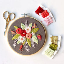 Load image into Gallery viewer, Floral Embroidery Hoop