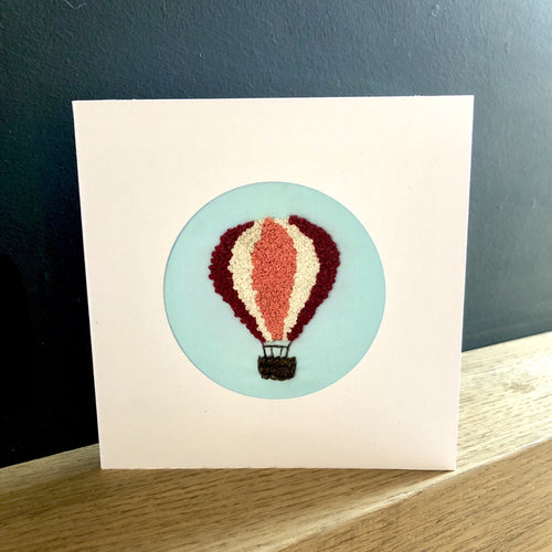 Balloon embroidered birthday card