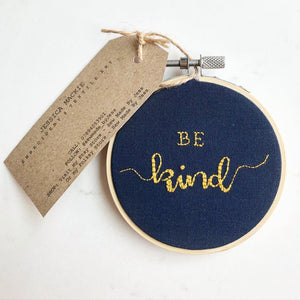 Handmade Be Kind Wall Hanging