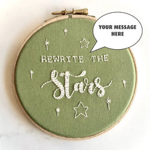 Load image into Gallery viewer, Bespoke quote embroidery hoop