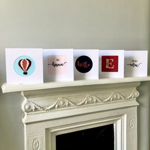 Embroidered New Home Cards