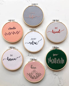 Custom Message Embroidery Hoops