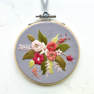 Floral Embroidery Hoop Wall Hanging