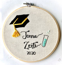 Load image into Gallery viewer, Graduation Embroidery Hoop